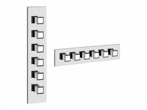 Gessi Eleganza Wellness thermostatic shower mixer with 5 stop valves 46210