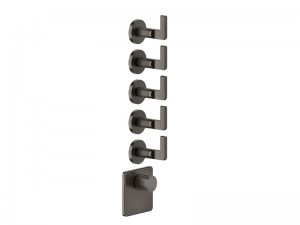 Gessi Inciso Wellness thermostatic 5-exit shower tap 58220