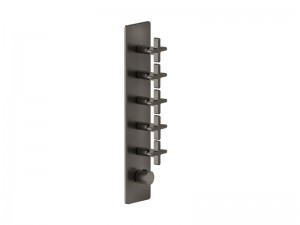 Gessi Inciso Wellness thermostatic 5-exit shower tap 58230