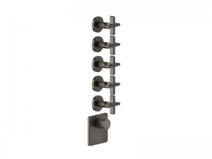 Gessi Inciso Wellness thermostatic 5-exit shower tap 58350