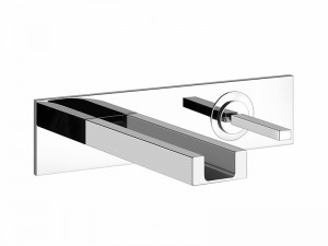 Gessi Rettangolo Colour wall sink tap with led 30987