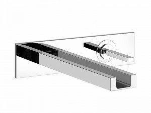 Gessi Rettangolo Colour wall sink tap with led 30993