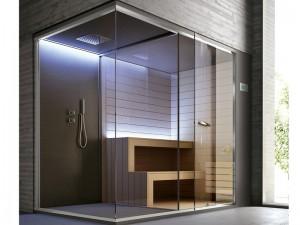 Hafro Ethos sauna with shower SET50074-1D010