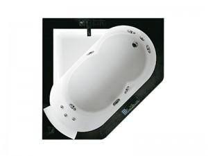 Jacuzzi Aura Corner 140 Stone drop in hydromassaging hot tub 9F43811