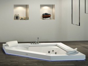 Jacuzzi Aura Corner 160 Corian drop in hydromassaging hot tub 9443740