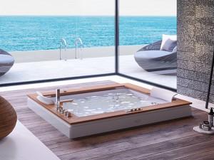 Jacuzzi Aura Plus Wood drop in hydromassaging hot tub 9H43334