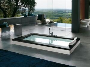 Jacuzzi Aura Uno Wood drop in hydromassaging hot tub 9F43529SX