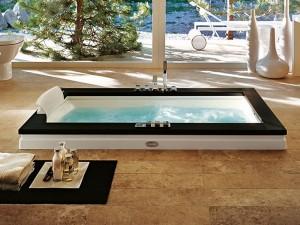 Jacuzzi Aura Uno Stone drop in hydromassaging hot tub 9F43809SX
