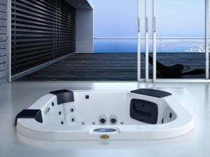 Jacuzzi Delfi Pro Sound indoor and outdoor drop in hydromassage spa 9444-80052