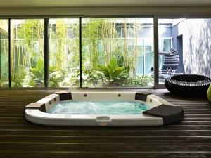 Jacuzzi Delos indoor and outdoor drop in hydromassage spa 9444-80852