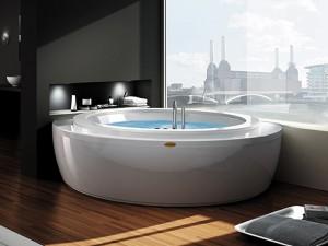 Jacuzzi Nova Corner Wood angular hydromassaging hot tub NOV30410711