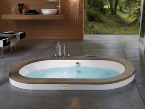 Jacuzzi Opaalia Wood drop in hydromassaging hot tub 9F43498