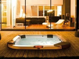 Jacuzzi Santorini Pro Sound indoor and outdoor drop in hydromassage spa 9444-83552