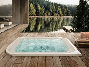 Jacuzzi Virtus indoor and outdoor drop in hydromassage spa VIR-1002-3052