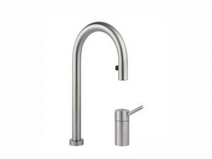 KWC Inox 2 holes kitchen tap with led 115.0315.703