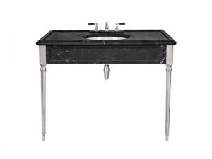 Lefroy Brooks Edwardian Marquina Black marble console LB6334BK