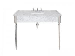 Lefroy Brooks Edwardian Carrara marble console LB6334WH