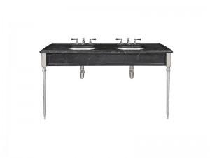Lefroy Brooks Edwardian double Marquina Black marble console Marquina LB6434BK