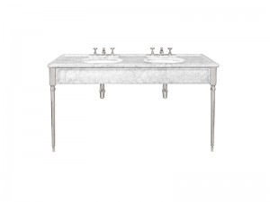 Lefroy Brooks Edwardian double Carrara marble console LB6434WH