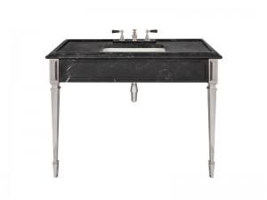 Lefroy Brooks Mackintosh Black Marquina marble console LB6343BK