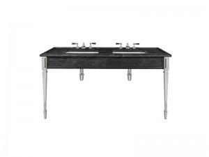 Lefroy Brooks Mackintosh double Black Marquina marble console LB6443BK