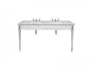 Lefroy Brooks Mackintosh double Carrara marble console LB6443WH