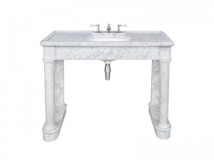 Lefroy Brooks Russborough Carrara marble console LB6331WH