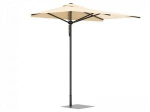 Ombrellificio Veneto City Legno half parasol 150x300cm CITY