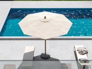 Ombrellificio Veneto Dolomiti Legno parasol diameter 350cm DOLOMITI