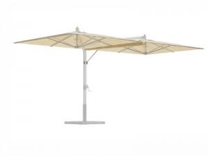 Ombrellificio Veneto Fellini Legno 2 lateral arms parasol 400x800cm FELLINI