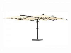 Ombrellificio Veneto Galileo Legno 4 lateral arms parasol 600x600cm GALILEO