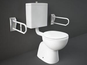Rak Bella disable floor toilet with toilet seat BEWC00003+BESC00004