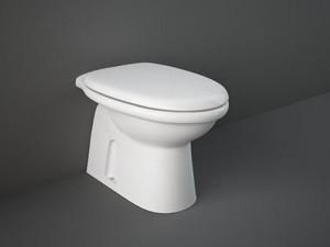 Rak Karla floor toilet with toilet seat KAWC00004+KASC00004