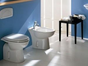Rak Karla floor toilet, bidet and toilet seat