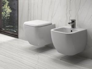 Rak Metropolitan wall toilet, bidet and toilet seat