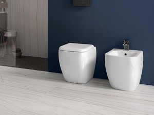 Rak Metropolitan floor toilet, bidet and toilet seat