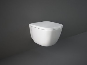 Rak One wall rimless toilet with hidden fixings and toilet seat EL13AWHA