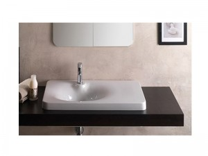 Scarabeo Fuji built-in sink with a shelf on the right 6014