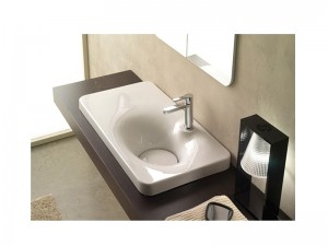 Scarabeo Fuji built-in sink with a shelf on the left 6015