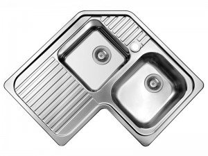 Schock Classic C200AS angular kitchen sink with double basin CLAC200