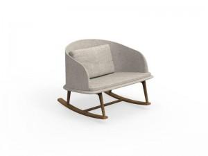 Talenti Cleo Teak fabric rocking chair CLEPD