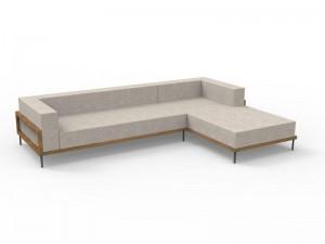 Talenti Cleo Teak fabric sofa CLEDX.LONSX