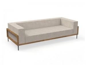 Talenti Cleo Teak fabric sofa CLEDIV