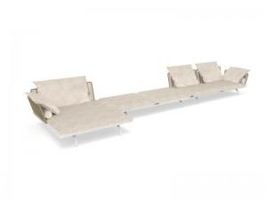 Talenti Cruise Alu fabric modular sofa CRUALUDIV-MOD