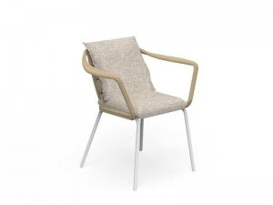Talenti Cruise Alu fabric dining armchair seat CRUALUPP