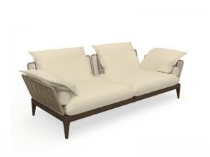 Talenti Cruise Teak fabric sofa CRULDIV