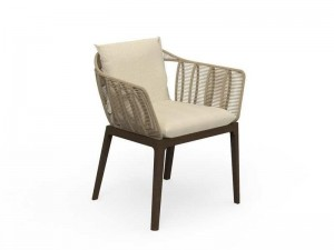 Talenti Cruise Teak fabric dining chair CRULPP