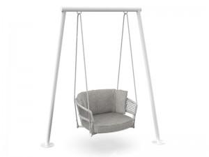 Talenti Moon Alu fabric swing chair MONALUALT