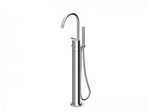 Zucchetti Isystick freestanding hot tub tap with handshower ZP1629