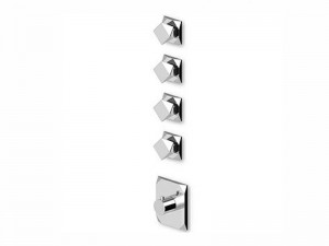 Zucchetti Wosh thermostatic shower mixer with 4 stop valves ZW5662